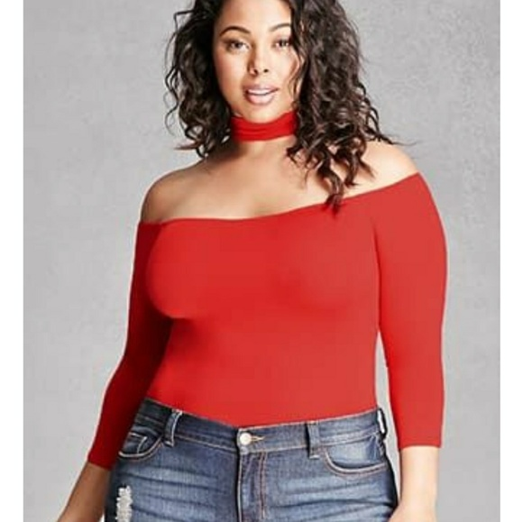 Forever 21 Other - Plus size choker bodysuit e7eb1e4f9